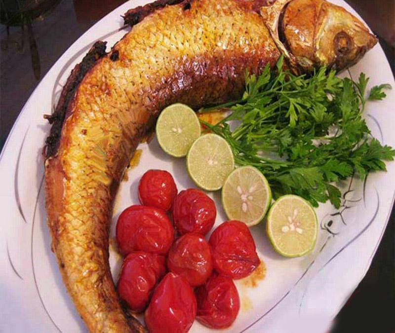 ماهی شکم پر در آون توستر