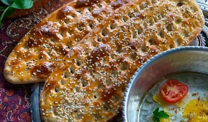 نان بربری در آون توستر